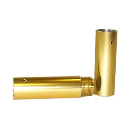 "Brass Coupler for 1.25"" Pole"
