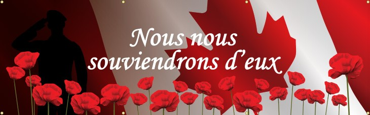 We Will Remember Banner (French)