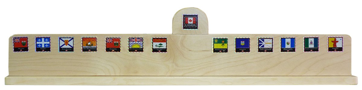 14 Hole Solid Maple Provincial Stand