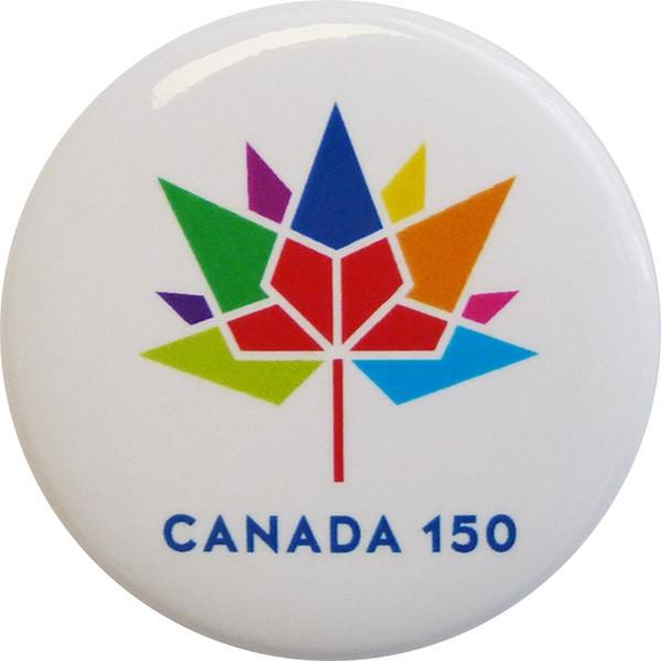 Canada 150 Button, White