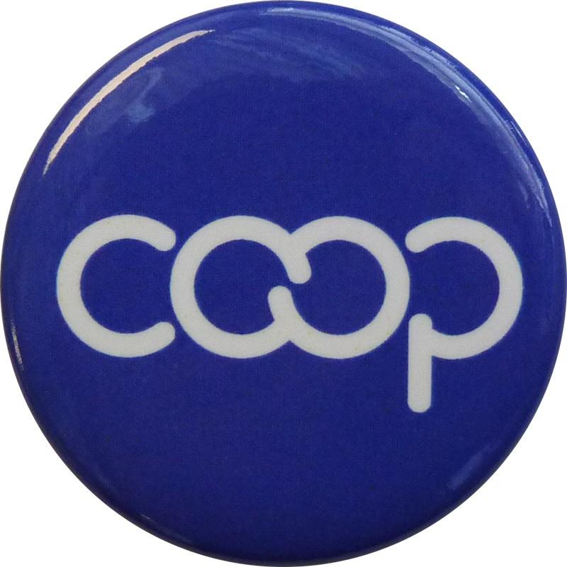 Co-op Button, Blue