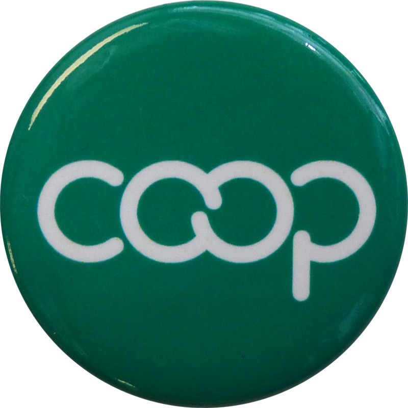 Co-op Button, Green