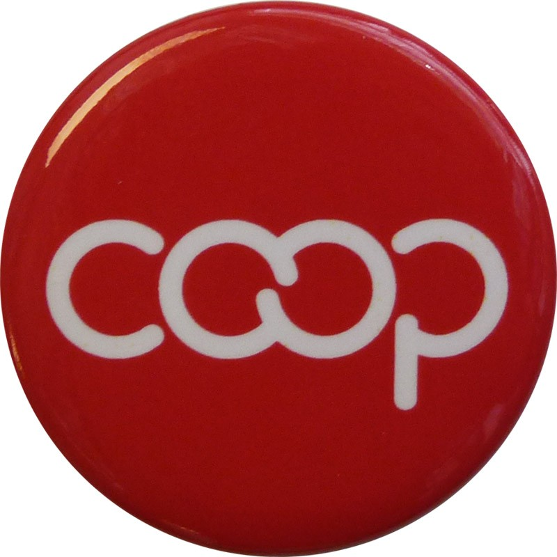 Co-op Button, Red