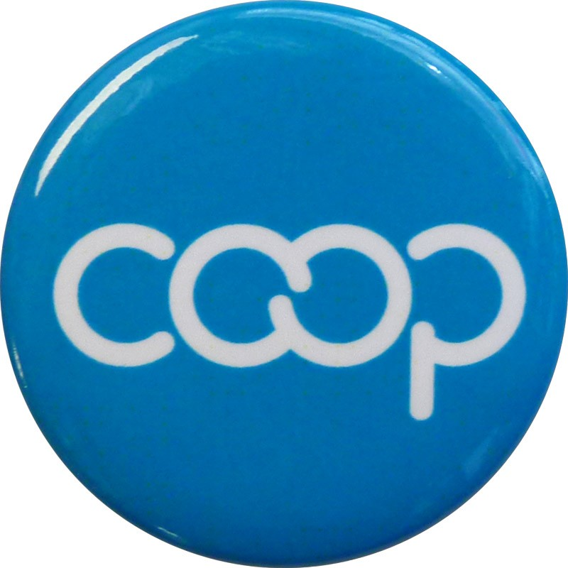Co-op Button, Turquoise