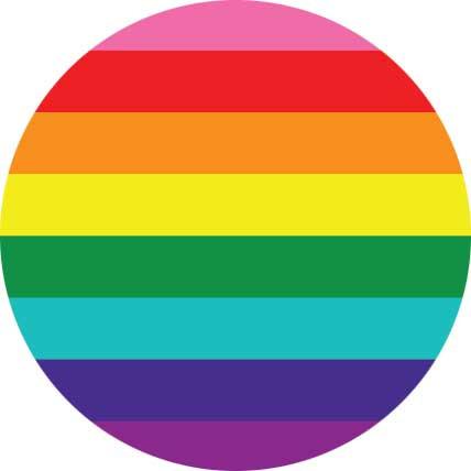 Gilbert Baker Original Pride Flag Buttons