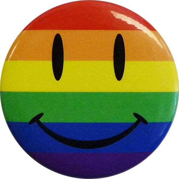 Pride Happy Face Round Button