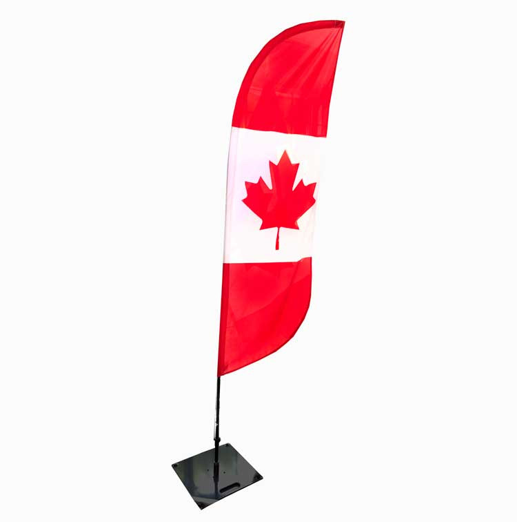Canada Feather Flag Set with Pole and Steel Base