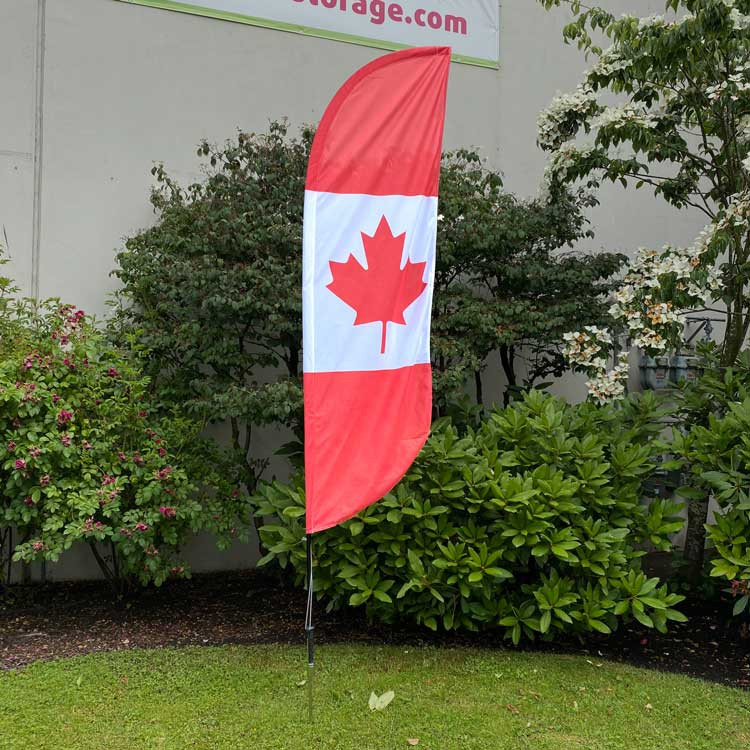 Canada Feather Flag Set with Pole and Ground Spike