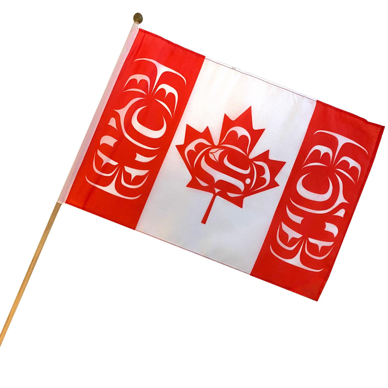 "12"" x 18"" Canadian Indigenous Stick Flag"