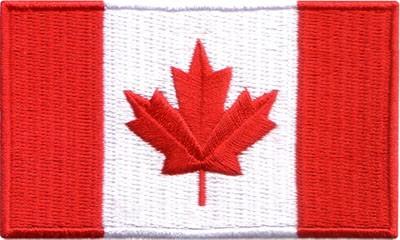 "Canada Flag 1.5""x 2.5"" Crest"
