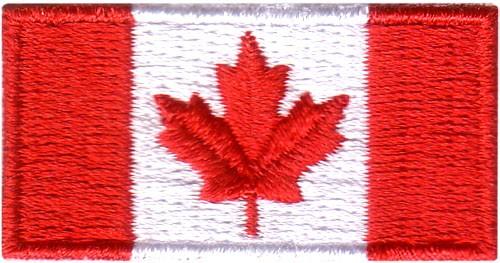 "Canada Flag 1""x2"" Crest"