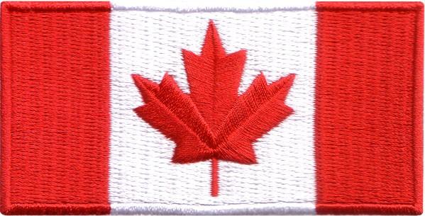 "Canada Flag 2""x4"" Crest"