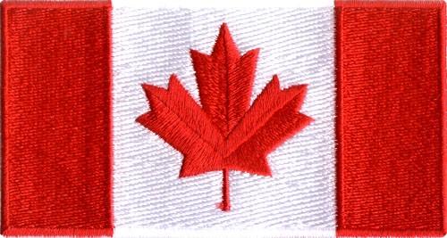 "Canada Flag 3""x6"" Crest"