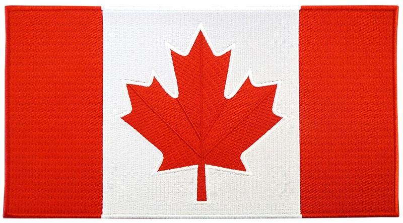 "Canada Flag 5""x10"" Crest"