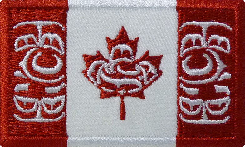 Canadian Native Flag Crest