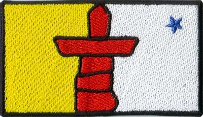 "Nunavut 1.5""x2.5"" Crest"