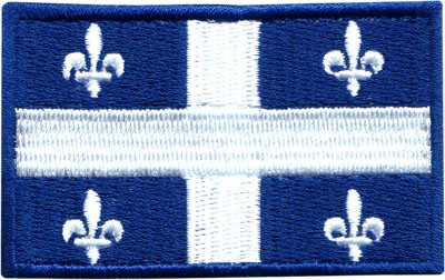 """Quebec 1.5""""x2.5"""" Crest"""