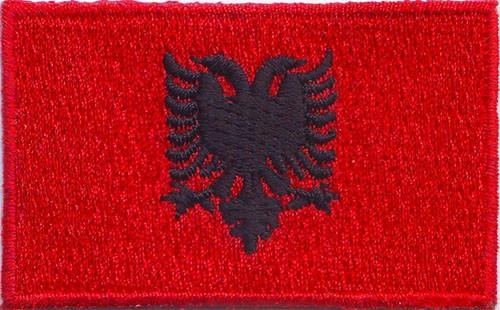 """Albania 1.5""""x 2.5"""" Crest"""