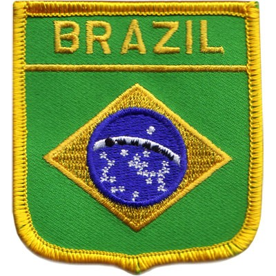 "Brazil 2.5""x 2.75"" Shield Crest"