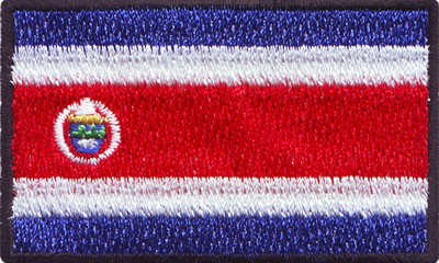 """Costa Rica 1.5""""x 2.5"""" Crest"""