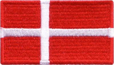 "Denmark 1.5""x 2.5"" Crest"