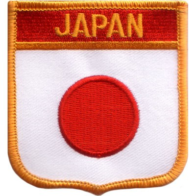 "Japan 2.5""x 2.75"" Shield Crest"
