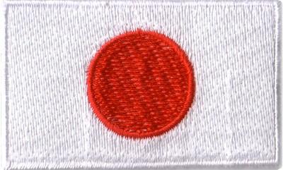"""Japan 1.5""""x 2.5"""" Crest"""