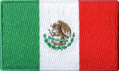"Mexico 1.5""x 2.5"" Crest"
