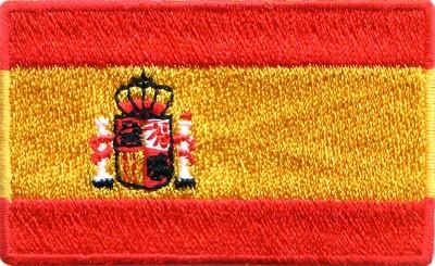 """Spain 1.5""""x 2.5"""" Crest"""