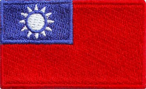 """Taiwan (R.O.C.) 1.5""""x 2.5"""" Crest"""