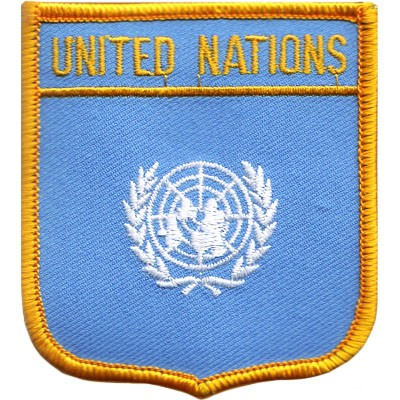 """United Nations 2.5""""x 2.75"""" Shield Crest"""