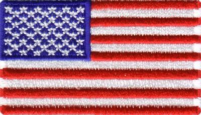 """USA 1.5""""x 2.5"""" Crest"""