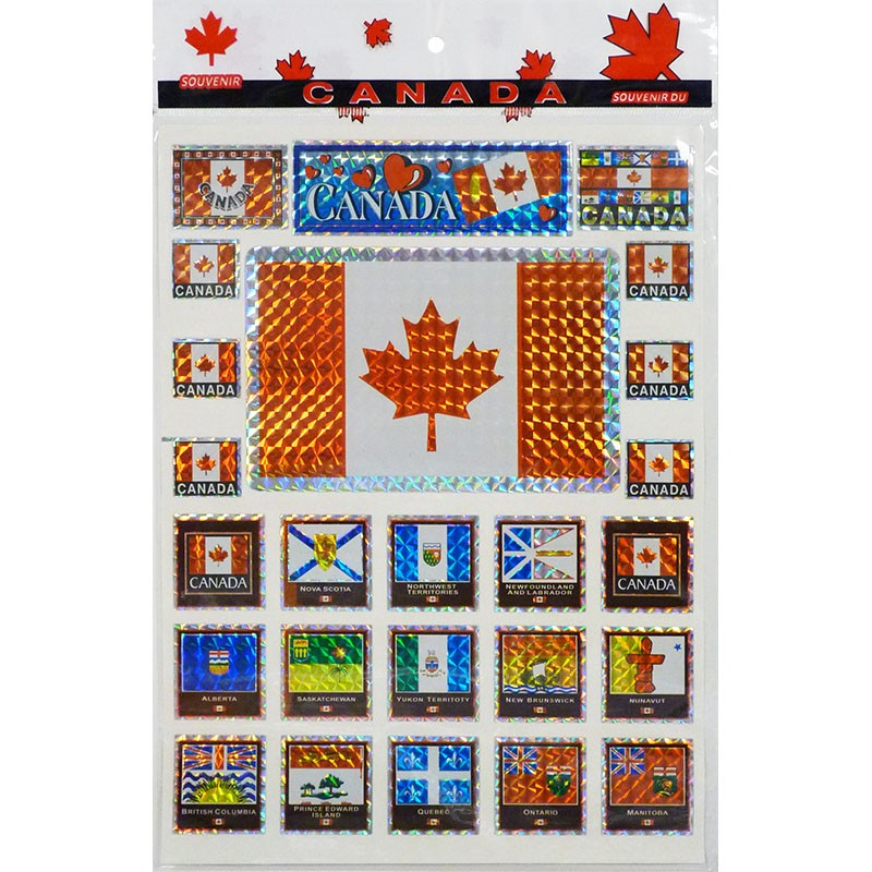 Canada/Provinces Reflective Decal Sheet