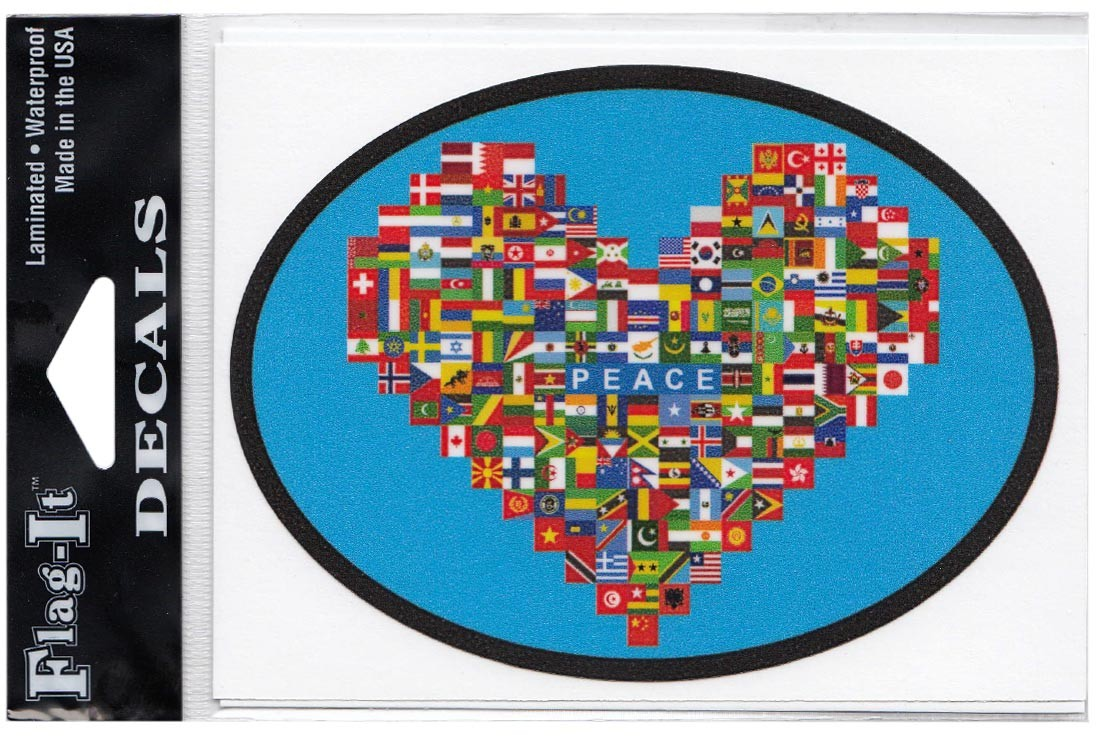 World Peace Decal, English