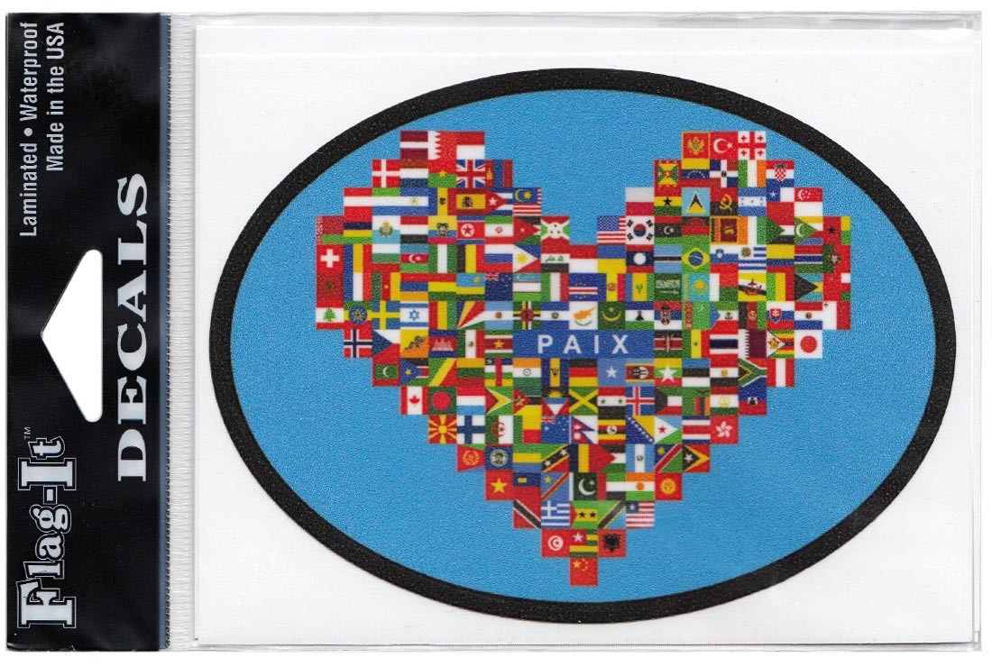 World Peace Decal, French