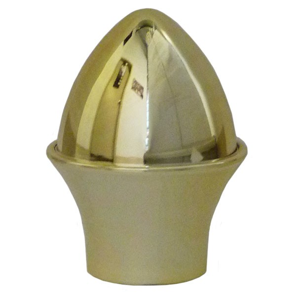 "Acorn Finial, 1.5"" Plastic, Gold"