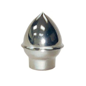 "Acorn Finial, 1"" Plastic, Silver"