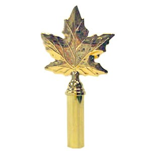 Maple Leaf Finial, Brass Plated