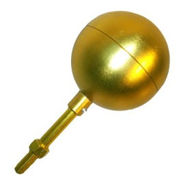 "4"" Aluminum Anodized Gold Ball"
