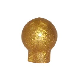 "1.5"" Gold Rubber Ball Finial"