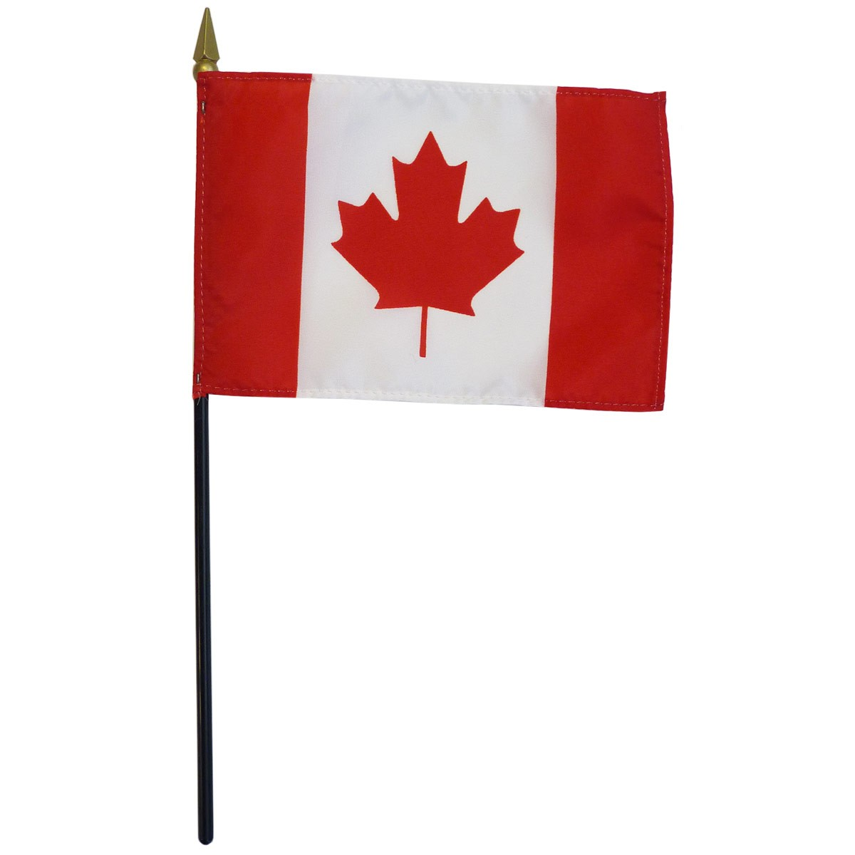 "Canada 4""x6"" polyester on 10.5"" stick flag"