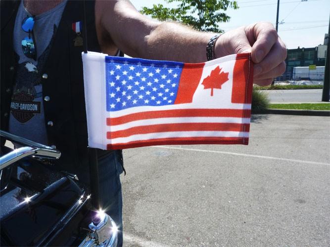 Canada Usa Combo Flags Usa Canada Aerial Flags Canada