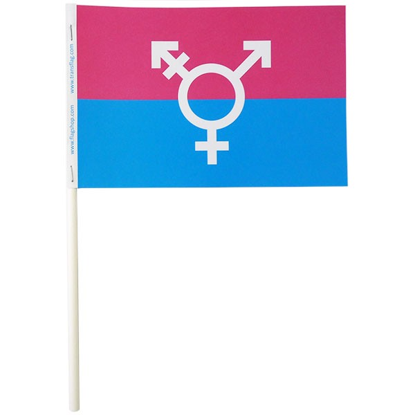 Canada Transgender Paper Stick Flags