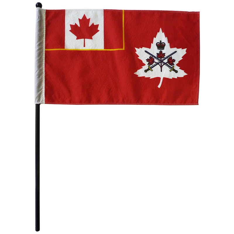 Canadian Army Stick Flags - AUTHORIZED SALES ONLY