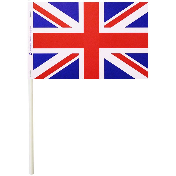 Union Jack Paper Stick Flags