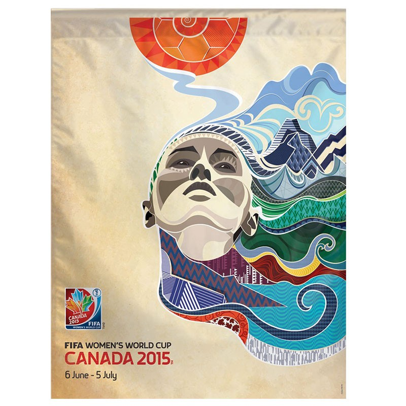 "FIFA 2015 ""Poster Logo"" Vertical Flag"