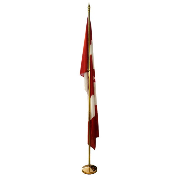 10\' Telescopic Gold Aluminum Flagpole | 10 ft Telescoping Gold ...
