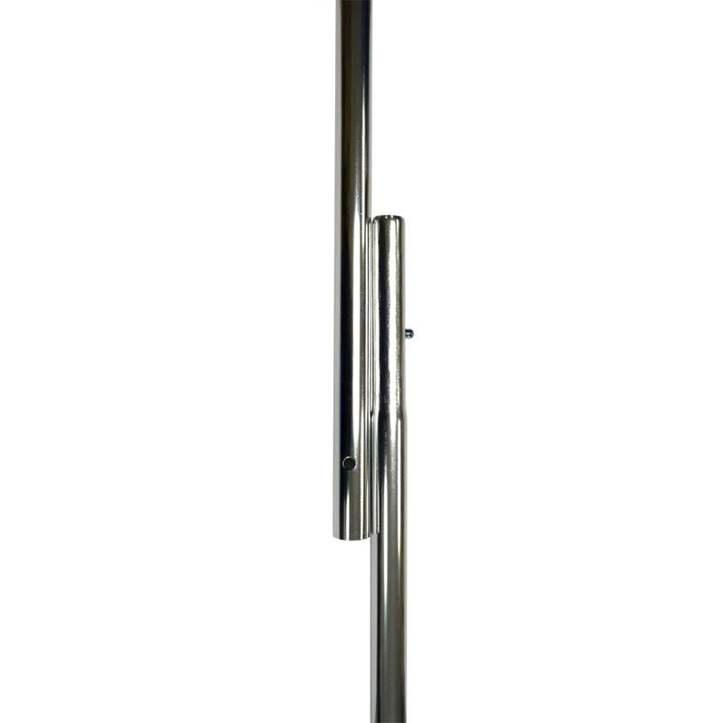 """8'x1"""" Aluminum Flagpole, Silver"""