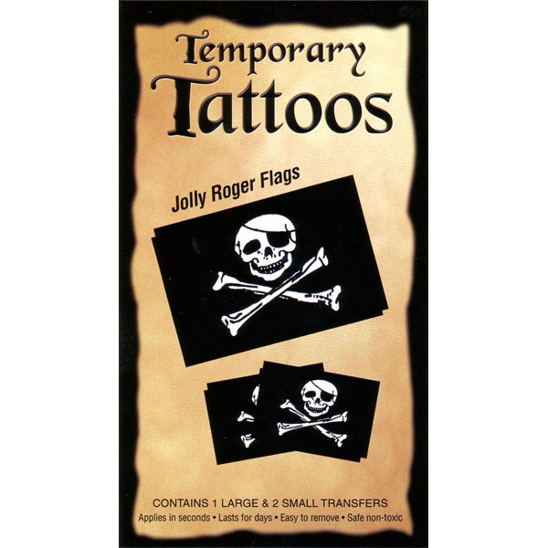 Jolly Roger Tattoos (3/pack)