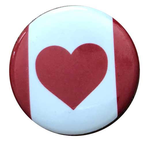 Heart Canada Button